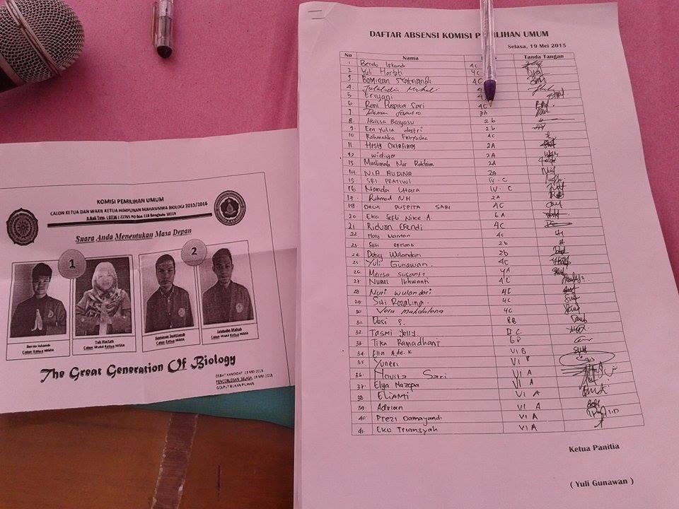 daftar pemilih