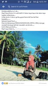 Screenshoot status facebook Levi Maulana