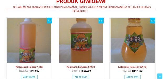 Rambah pasar nasional, sirup kalamansi Giwigewi luncurkan website pesan online